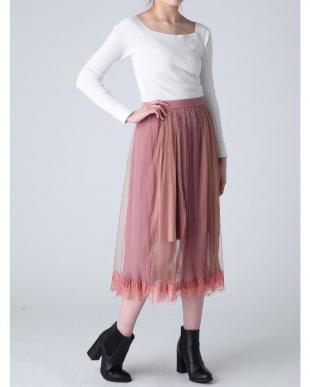 アイボリー シアードットチュールドッキングスカート dazzlinを見る