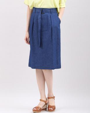 インディゴ9 メープル(R)・デニムベルト付きスカート 7-ID concept.を見る