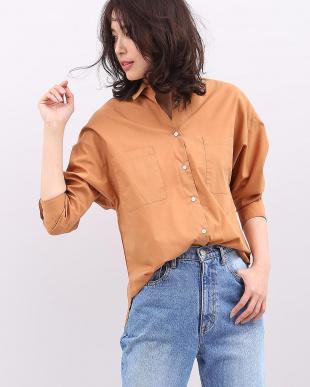 キャメル1 《大きいサイズ》ドロップショルダーストレッチシャツ 7-ID concept.を見る