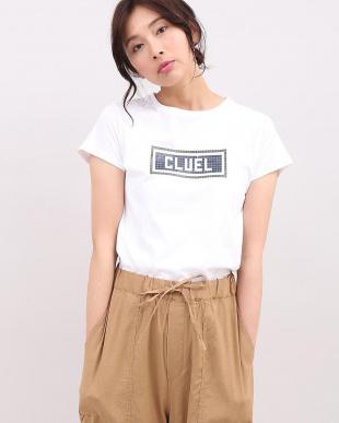 ホワイト CLUELコラボボックスロゴTシャツ《スビン綿Mix天竺》 Maison de Beigeを見る