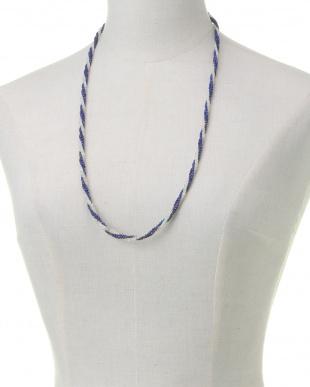 SV925 ラピス オパール 三連ネックレス 約70cmを見る