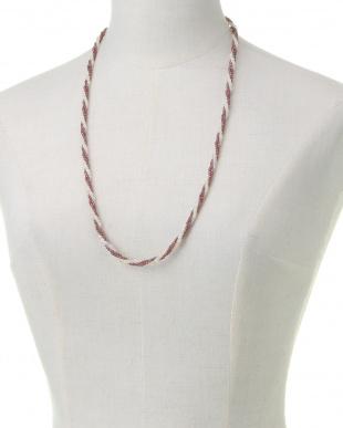 SV925 ガーネット オパール 三連ネックレス 約70cmを見る