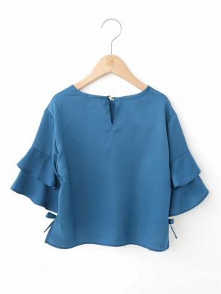 ブルー [100-130]ダブルフリルブラウス[WEB限定サイズ] a.v.v bout de chouを見る