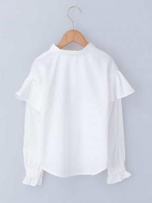 ホワイト [140-150]肩フリル刺繍ブラウス a.v.v bout de chouを見る