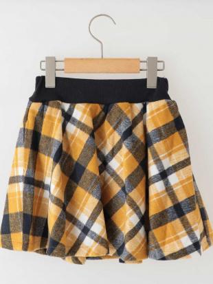 マスタード [100-130]シャギーチェックインナーパンツスカート[WEB限定サイズ] a.v.v bout de chouを見る