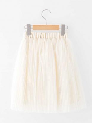 ホワイト [140-150]チュールプリーツスカート a.v.v bout de chouを見る