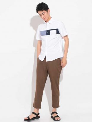 ホワイト スクエアキリカエオックスシャツ[WEB限定サイズ] a.v.v HOMMEを見る