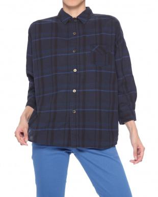 マスタード ワイドワークシャツを見る
