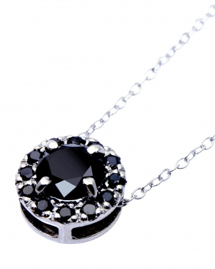 Pt900/SV ブラックダイヤモンド 計0.5ct サークルネックレス 鑑別書付を見る