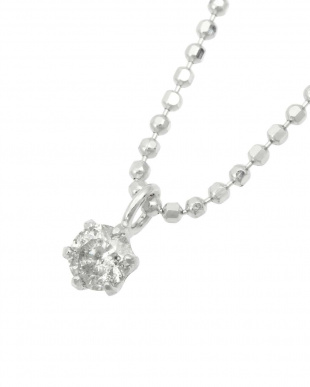 SV 天然ダイヤモンド0.1ct 6本爪ネックレスを見る