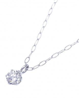 Pt900/Pt850 希少Dカラー 天然ダイヤモンド 0.08ct 6本爪一粒ネックレス カード鑑定書付を見る