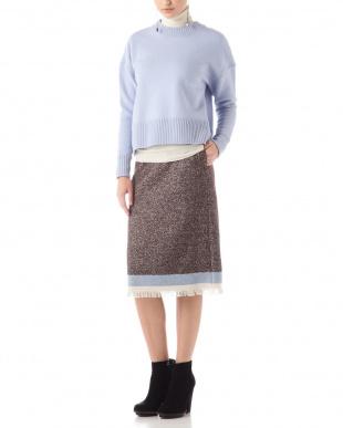 ブラウン ツートンツイードスカート アドーアを見る