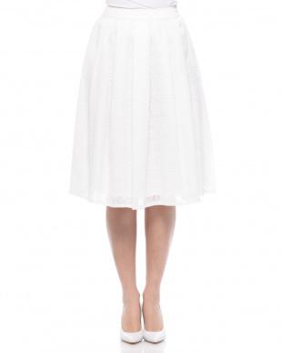 ライトグリーン 楊柳刺繍スカートを見る