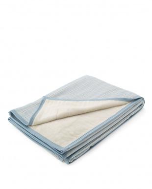 ブルー 日本製シールガーゼ綿毛布を見る