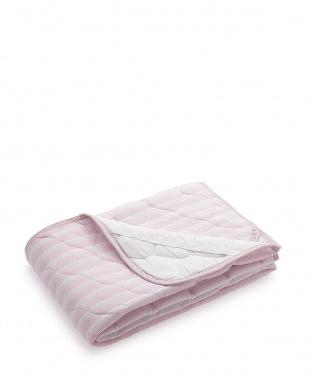 ピンク 吸水速乾+消臭加工ニットワッフル素材敷パット シングルサイズを見る