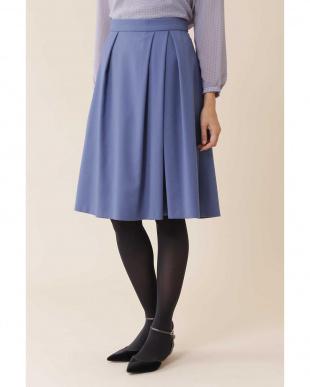 ブルー ◆トラッカーツイルタックフレアカラースカート NATURAL BEAUTYを見る