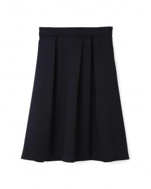 ネイビー ◆トラッカーツイルタックフレアカラースカート NATURAL BEAUTYを見る