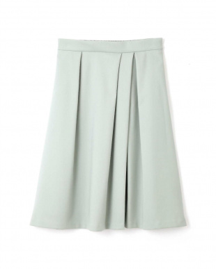 ライトグリーン ◆トラッカーツイルタックフレアカラースカート NATURAL BEAUTYを見る