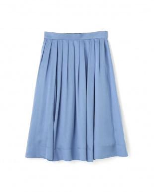 ブルー テロントサテンスカート NATURAL BEAUTYを見る