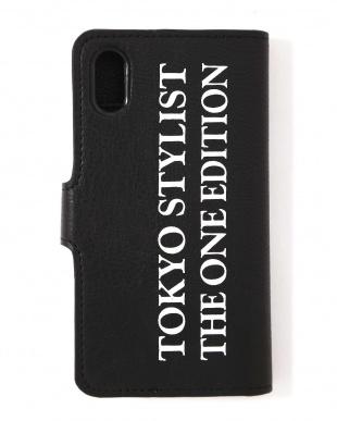 ブラック ミラー付手帳型iPhoneケース(iPhone X対応) TOKYO STYLIST THE ONE EDITIONを見る