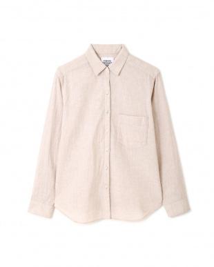 ベージュ 麻コットンシャツ TOKYOSTYLIST THEONE EDITIONorgを見る