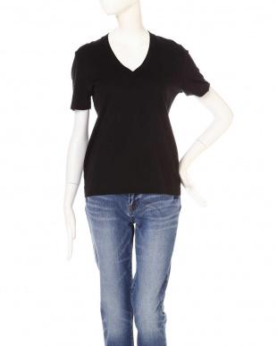 ブラック VネックTシャツ TOKYOSTYLIST THEONE EDITIONorgを見る