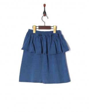 ブルー ヘプラムスカートを見る