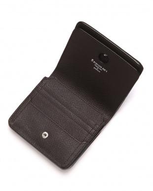 BRN 型押しレザー コインケース付き 2つ折り財布を見る