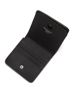 BLK 型押しレザー スキミング防止 2つ折り財布を見る