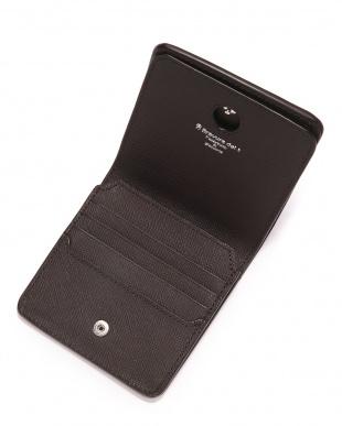BRN 型押しレザー スキミング防止 2つ折り財布を見る