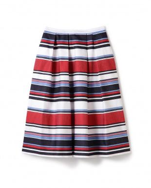 マルチボーダー [helder]Random Tuck Skirt アッシュスタンダードを見る
