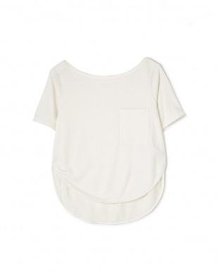 ホワイト [SALT + ]Italy yarn boatneck t-shirt アッシュスタンダードを見る