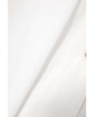 ホワイト1 フレンチスリーブ開襟シャツブラウス R/B(オリジナル)を見る