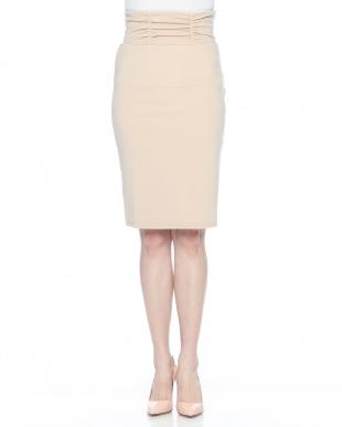 モカ シャーリングベルトカットスカートを見る