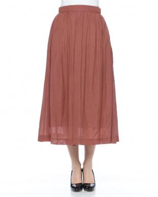 ブラウン ギャザースカートを見る