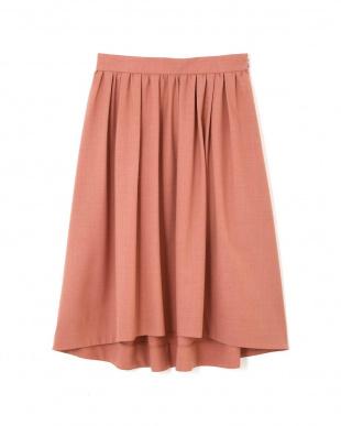 ピンク タックギャザーふんわりカラースカート NATURAL BEAUTYを見る