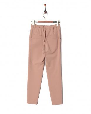 ピンク 重織ストレッチタックパンツを見る