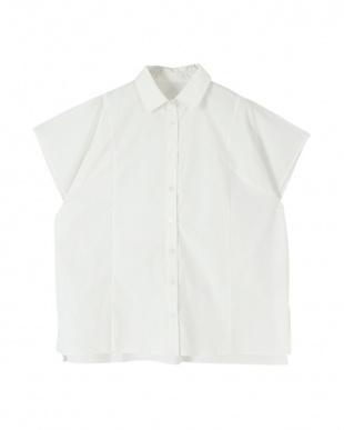 オフホワイト デザイン切替えオーバーサイズシャツを見る