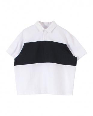オフホワイト ワイドボーダーラガーシャツを見る