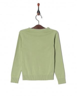 グリーン J155 アニエスベー 刺繍付き ニット カーディガンを見る