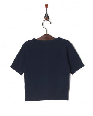 ネイビー J155 アニエスベー 刺繍付き 半袖 ニット カーディガンを見る