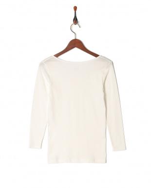 オフホワイト 甘撚綿100% 8分袖シャツを見る