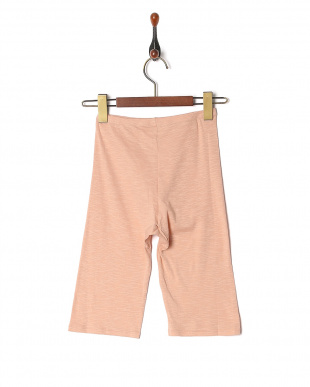 ピンク ふわりと身生地綿100% 5分丈ボトムを見る