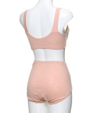 ピンク×ピンク ふわりと身生地綿100% ハーフトップ×ふわりと身生地綿100% 1分丈ショーツを見る