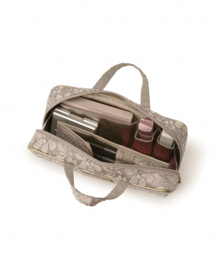 ピンク ヴェネチアン・ガーデン ブラシケース付きバッグ型ポーチを見る
