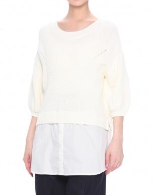white 30290040019シャツコンビニットを見る