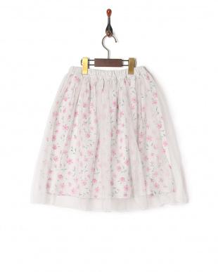 オートミール  花柄スカートを見る