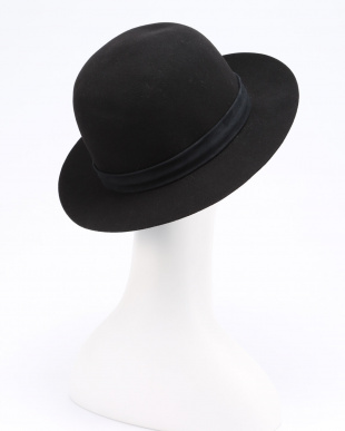 black RHC-16FL-142 WOOL BOWLER HATを見る