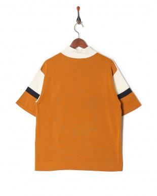 ホワイト 0060041019カラーブロック ハーフジップティーシャツを見る