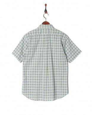 ライトグリーン メンズ  吸汗速乾 TSパナマチェックシャツS/Sを見る